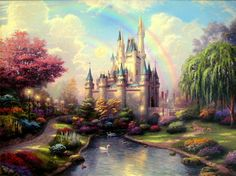 New Day at the Cinderella Castle Art by Thomas Kinkade