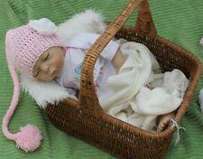 Mütze  Zipfelmütze Babymütze Fotoshooting - NEU Kopfum. 35 - 40 cm