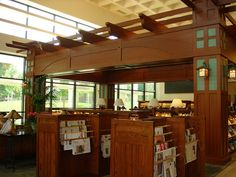 Cerritos library California Arts and Crafts Style Periodical and Newspaper area | Flickr - Photo Sharing!