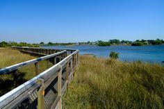 Cedar Key Boardwalk - Historic little fishing Village Sleepy Cedar Key Florida  Boardwalk   near cemetery