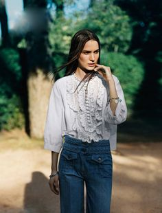 Birkin's Back Really loving the textures of the blouse & pants. Love this. Recreating this look