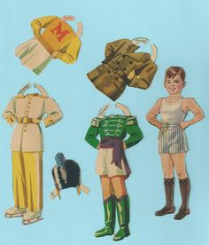 Vintage Paper Doll Outfits Fred   eBay