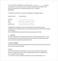 Catering Contract Template 8