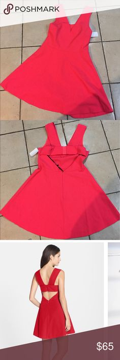 Bright orange pink  Felicity & Coco dress Offers accepted. First 2 picture shows color. Stock pictures show fit.  Hidden back zip with hook-and-eye closure. Unlined. Nylon/spandex or polyester/spandex. Dry clean or hand wash cold, dry flat. By Felicity & Coco. Felicity and Coco Dresses Mini