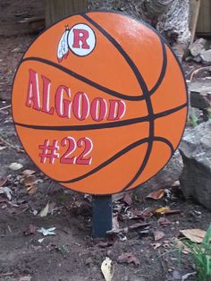 Basketball Wooden Yard Art Sign All Sports can by WoodsDesignsTN