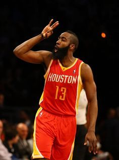 James Harden after hitting a clutch 3 in a win over Brooklyn.