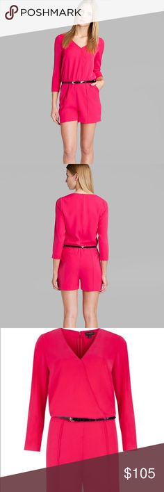 Ted Baker fuschia romper Brand new with tag, authentic Ted Baker Arielle Deep Pink romper. Romper comes with belt together to compliment your look. Ted Baker Other