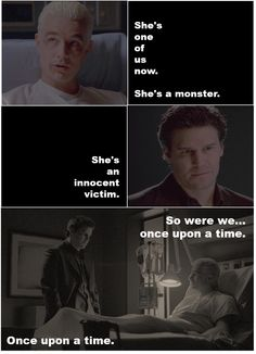 Angel and Spike - Not sure which show this is from ... probably Angel. Not sure it matters. I love these two. One day I want to write characters that have this dynamic.