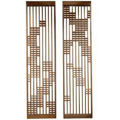 Pair of Monumental Architectural Screen Panels from a Modern San Diego Church - Divider screen - Tour Window Grill Design, Screen Design, Door Design, Wall Design, Chair Design, Furniture Design, Partition Screen, Divider Screen, Partition Design