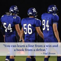 25 of the Greatest Football Quotes Ever – Team Colors By Carrie Football 101, Football Banner, Alabama Football, American Football, Football Players, College Football, Inspirational Football Quotes, Soccer Quotes, Football Motivation