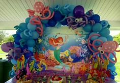 mermaid baby shower | Flowers, Ribbons And Bows