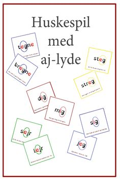 Danish Language, Play To Learn, Sprog, Speech Therapy, Kids And Parenting, Diy For Kids, Classroom, Teacher, Education