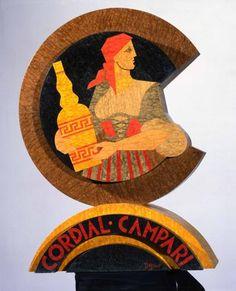 Fortunato Depero (Fondo, 30 marzo 1892 – Rovereto, 29 novembre 1960) - Cordial Campari #TuscanyAgriturismoGiratola