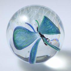 glass butterfly orb