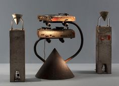 The Concrete Stereo is another of Arad's milestones. A stereo system coated in protective resins and encased in concrete slabs. Once again combining his use of industrial materials with technology. This design combination inspired many imitations to and copies, proving how influential his designs were.