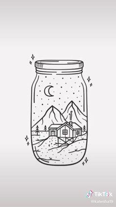 Easy Doodles Drawings, Easy Doodle Art, Mini Drawings, Simple Doodles, Art Drawings Sketches Simple, Pencil Art Drawings, Drawing Ideas, Cute Art, Mandala