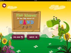 I appen Dino Martion til iPad lærer du at stave forskellige ord - den er gratis