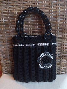 Handtasche - ZpagettiHandtasche Schwarz - ein Designerstück von wietske bei DaWanda