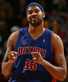"Rasheed Wallace- ""S_H_E_E_D"". One of the 'bad boys"" of the Detroit Pistons-NBA Champions."