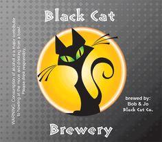 Black cat beer label #Halloween