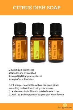 doTERRA DIY Citrus Dish Soap Recipe