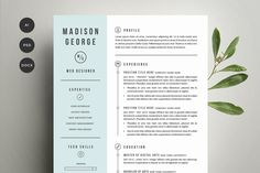 Graphic Design - Graphic Design Ideas - Resume & Cover Letter Template by Refinery Resume Co. on Creative Market Graphic Design Ideas : – Picture : – Description Resume & Cover Letter Template by Refinery Resume Co. on Creative Market -Read More – Resume Cover Letter Template, Resume Template Examples, Page Template, Letter Templates, Cv Examples, Design Templates, Invoice Template, Web Design, Resume Design