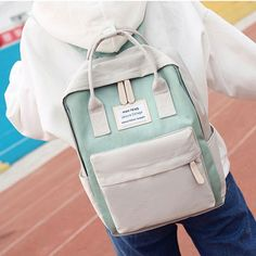 How nice Fresh Multi-function Campus Shoulder Bag High School Students Canvas Backpack ! I want to get it ASAP! College Handbags, College Bags, Canvas Backpack, Backpack Bags, Fashion Backpack, Cute Backpacks, School Backpacks, College Canvas, Cute School Bags
