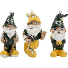 Green Bay Packers Gnome Ornament 3 pack