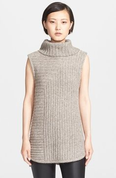 Theory+'Beylor+T'+Ribbed+Knit+Turtleneck+Tunic+Vest+available+at+#Nordstrom
