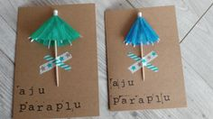 Aju paraplu bedankje - afscheid van juf of meester littlepresents Little Presents, Diy Presents, Little Gifts, Budget Crafts, Diy On A Budget, Homemade Gifts, Diy Gifts, Umbrella Cards, Diy And Crafts