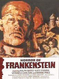 1-28-13: The Horror of Frankenstein (1971)  This film, sixth in the Hammer Frankenstein Series skips back to the origins of Dr. Frankenstein in his College days.