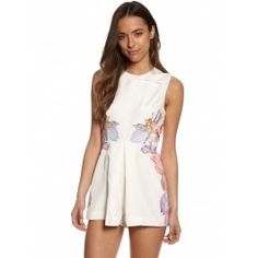 WOMENS WHITE OVER THE LOVE GARDEN PLAYSUIT by KEEPSAKE