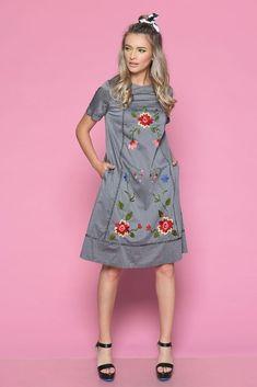 Rochie TALIA G - Mathilde Shirt Dress, Floral, Casual, Summer, Shirts, Dresses, Fashion, Embroidery, Vestidos