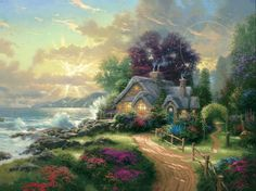 Masterpieces of colorful art. Enjoy there peaceful sceneries of smooth country life. #art #paint #jigsaw #puzzle