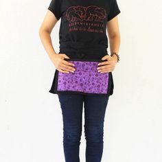 Thaicotton Unisex half apron 3 bags Thai batik by meatballtheory, $14.75