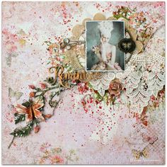 Two mixed media layouts with video tutorial by Wilma Voermans