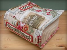 The Book Pillow & Pincushion pattern is now available in my SHOP . This one's for all those book lovers out there. Now you can add plu. Bag Patterns To Sew, Craft Patterns, Sewing Patterns, Book Pillow, Book Quilt, Needle Book, Shops, Diy Pillows, Fabric Art
