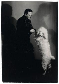 #ART | #arthistory | #artist | Man Ray (photo of Gertrude Stein et son chien, 1929)