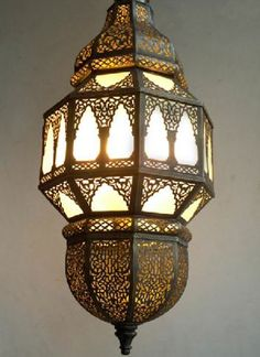 """The beautiful hanging lamp """"Alhambra"""" to enlighten your space differently Moroccan Chandelier, Moroccan Lighting, Moroccan Lamp, Moroccan Lanterns, Moroccan Style, Moroccan Bedroom, Diy Pendant Light, Pendant Light Fixtures, Pendant Lighting"""