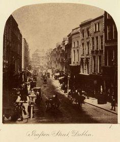 Grafton Street, Dublin c.1880 after an original of c.1860