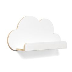 Cloud Shaped Ply Shelf White