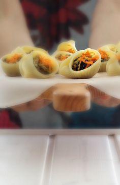"""Tiny green tofu shells in """"Pasta Garofalo"""""""