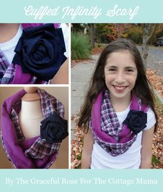 Infinity scarf...  Cute for Mom's and daughters.