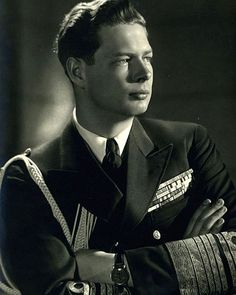 King Michael I of Romania, last monarch of Romania.His father is King Carol II and his paternal grandmother is Queen Marie, who used to be Princess Marie of Edinburgh. Thus, Michael is a great-great-grandson of Queen Victoria of Great Britain. Queen Mary, King Queen, Michael I Of Romania, Romanian Royal Family, Today In History, Royal House, Royal Life, Kaiser, Second World