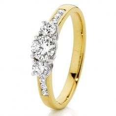 Say I love you with this gorgeous 18ct 2 Tone Gold Diamond Trilogy Ring from Loloma Jewellers.