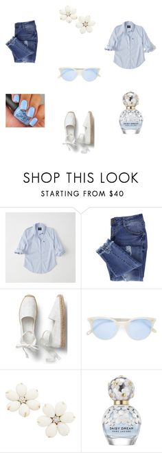 """""""Summer Blues"""" by pinterestpiece on Polyvore featuring Abercrombie & Fitch, Essie, Garrett Leight and Marc Jacobs"""