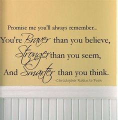 Great for kids walls.. If i had room left on their walls! Winnie the Pooh emilyenchanted