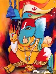 Domusartonline offers Indian artist unique Ganesh paintings for sale in India , Ganesh paintings, watercolor Ganesh painting and Ganesh oil paintings at lowest prices. Ganesha Drawing, Lord Ganesha Paintings, Ganesha Art, Ganesh Rangoli, Ganesh Tattoo, Spiritual Paintings, Shiva Art, Indian Artist, Hindu Art