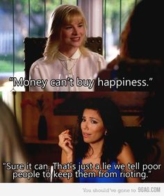 Not a Desperate Housewives fan but this was funny... and I gotta say... I always wonder if its true...