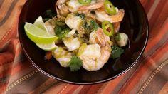 Michael Symon's Sizzling Tequila Lime Shrimp